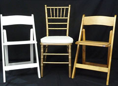 Triple T Party Rentals Ltd., Nanaimo - Wooden Folding Chairs, Chivari Chair