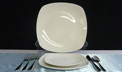 Triple T Party Rentals Ltd., Nanaimo - Dinnerware - Square Plates - Royal Doulton